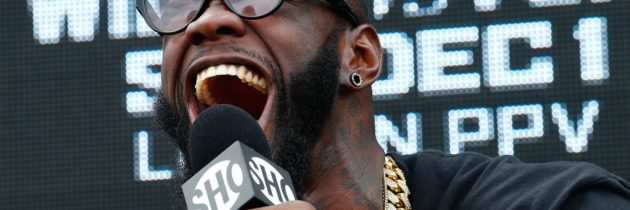 Wilder 'breaks mascot's jaw' on television
