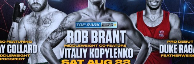 Collard, Rodriguez join Alvarez-Smith on Aug. 22